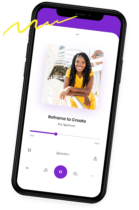 Reframe to create podcast on mobile phonephone podcast-mockup